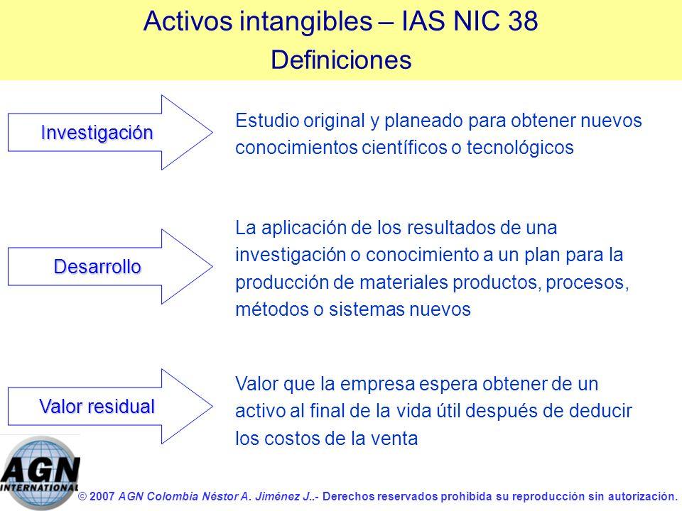© 2007 AGN Colombia Néstor A. Jiménez J..- Derechos reservados prohibida su reproducción sin autorización. Estudio original y planeado para obtener nu