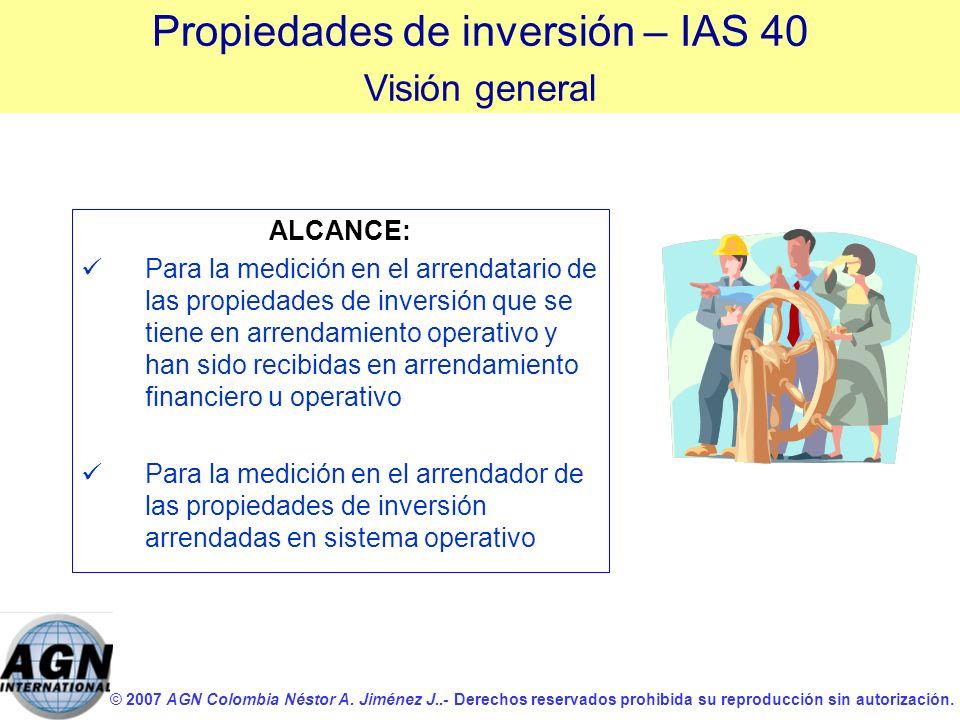 © 2007 AGN Colombia Néstor A. Jiménez J..- Derechos reservados prohibida su reproducción sin autorización. ALCANCE: Para la medición en el arrendatari