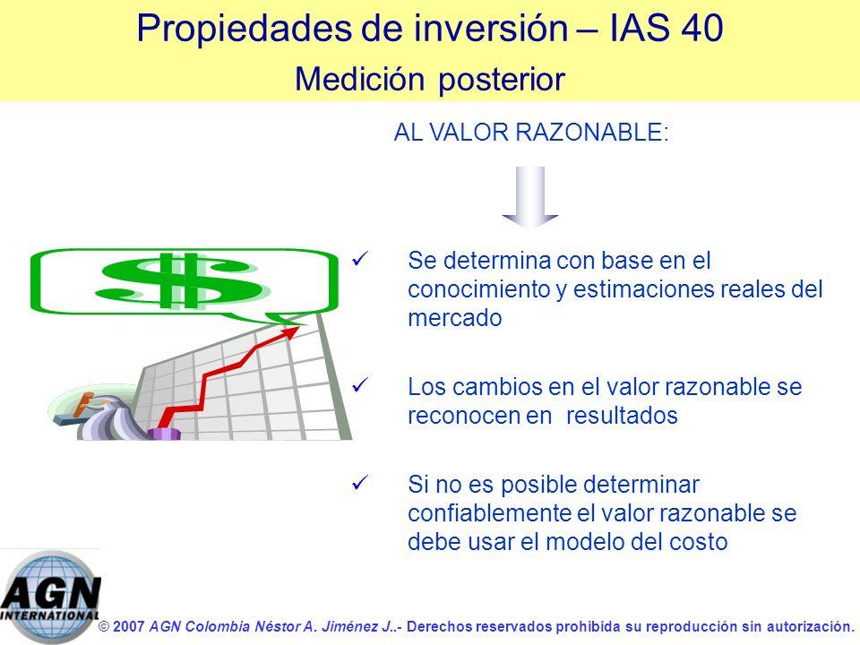 © 2007 AGN Colombia Néstor A. Jiménez J..- Derechos reservados prohibida su reproducción sin autorización. Se determina con base en el conocimiento y