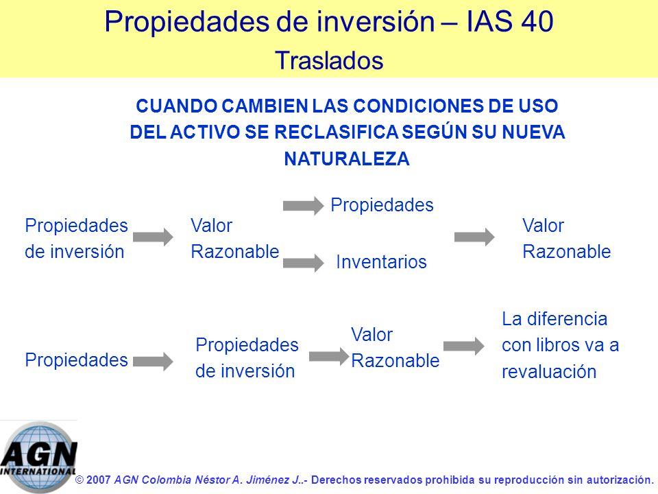 © 2007 AGN Colombia Néstor A. Jiménez J..- Derechos reservados prohibida su reproducción sin autorización. CUANDO CAMBIEN LAS CONDICIONES DE USO DEL A