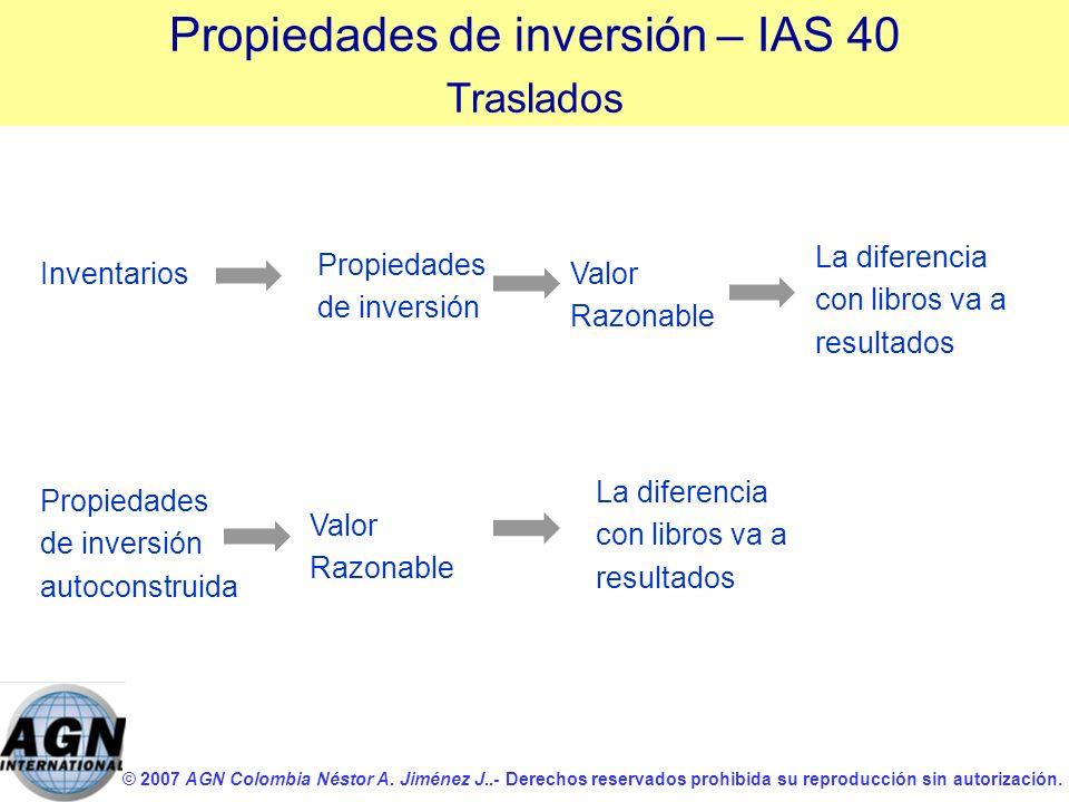 © 2007 AGN Colombia Néstor A. Jiménez J..- Derechos reservados prohibida su reproducción sin autorización. Propiedades de inversión autoconstruida Val
