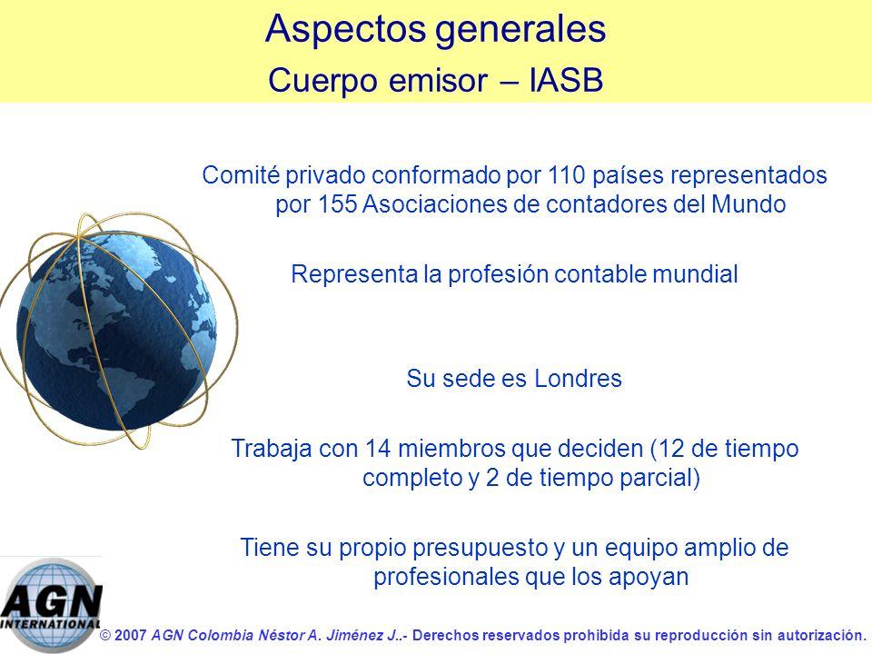 © 2007 AGN Colombia Néstor A. Jiménez J..- Derechos reservados prohibida su reproducción sin autorización. Comité privado conformado por 110 países re