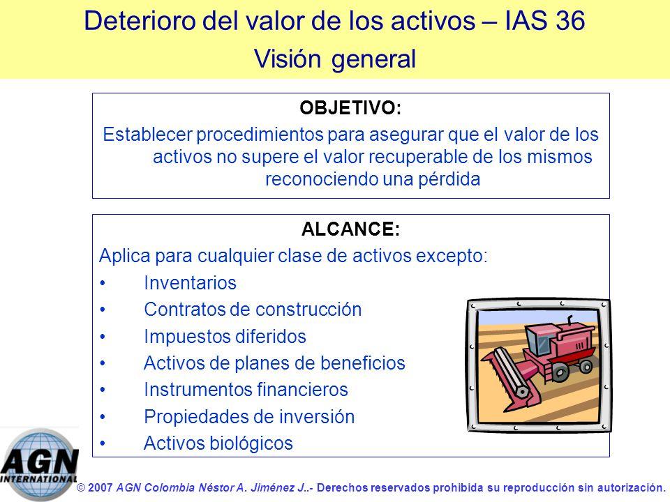 © 2007 AGN Colombia Néstor A. Jiménez J..- Derechos reservados prohibida su reproducción sin autorización. OBJETIVO: Establecer procedimientos para as