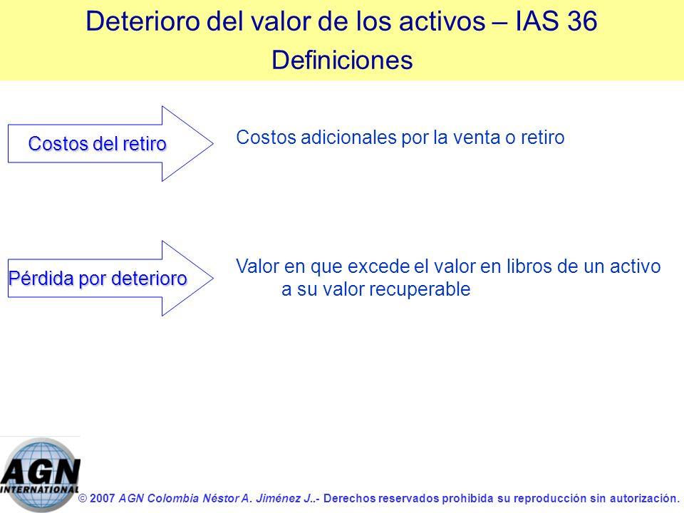 © 2007 AGN Colombia Néstor A. Jiménez J..- Derechos reservados prohibida su reproducción sin autorización. Costos adicionales por la venta o retiro Co