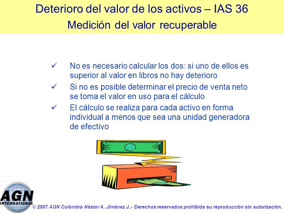 © 2007 AGN Colombia Néstor A. Jiménez J..- Derechos reservados prohibida su reproducción sin autorización. No es necesario calcular los dos: si uno de