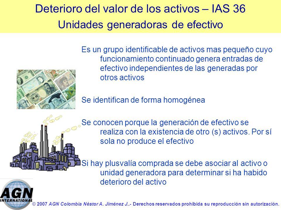 © 2007 AGN Colombia Néstor A. Jiménez J..- Derechos reservados prohibida su reproducción sin autorización. Es un grupo identificable de activos mas pe