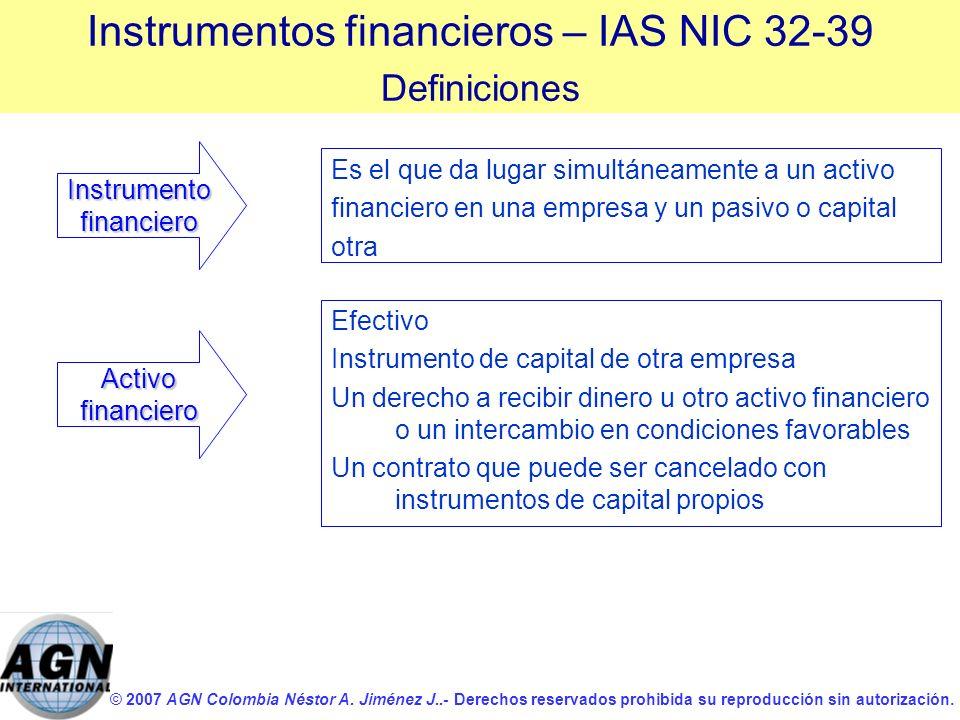 © 2007 AGN Colombia Néstor A. Jiménez J..- Derechos reservados prohibida su reproducción sin autorización. Es el que da lugar simultáneamente a un act