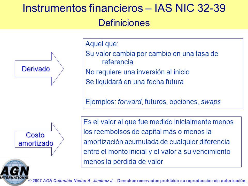© 2007 AGN Colombia Néstor A. Jiménez J..- Derechos reservados prohibida su reproducción sin autorización. Aquel que: Su valor cambia por cambio en un