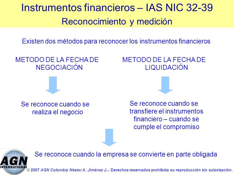 © 2007 AGN Colombia Néstor A. Jiménez J..- Derechos reservados prohibida su reproducción sin autorización. Existen dos métodos para reconocer los inst