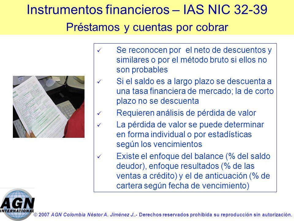 © 2007 AGN Colombia Néstor A. Jiménez J..- Derechos reservados prohibida su reproducción sin autorización. Se reconocen por el neto de descuentos y si