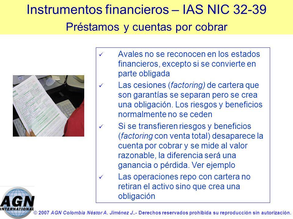 © 2007 AGN Colombia Néstor A. Jiménez J..- Derechos reservados prohibida su reproducción sin autorización. Avales no se reconocen en los estados finan