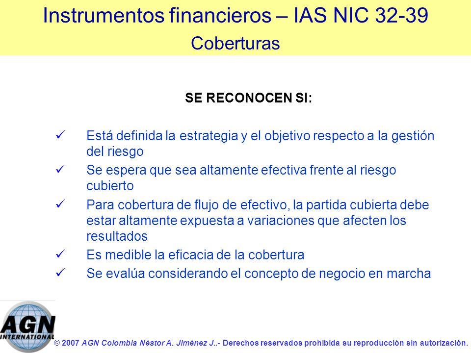 © 2007 AGN Colombia Néstor A. Jiménez J..- Derechos reservados prohibida su reproducción sin autorización. SE RECONOCEN SI: Está definida la estrategi