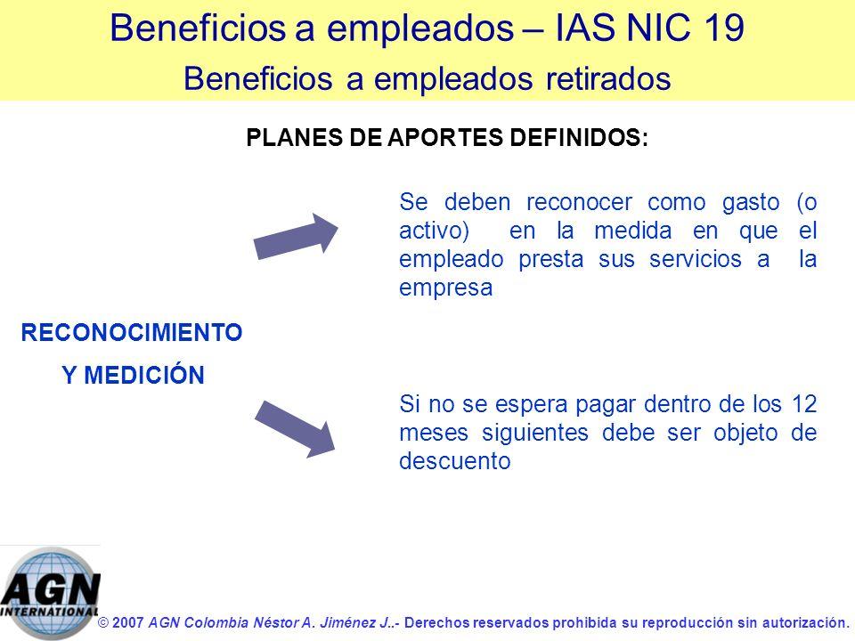© 2007 AGN Colombia Néstor A. Jiménez J..- Derechos reservados prohibida su reproducción sin autorización. Si no se espera pagar dentro de los 12 mese