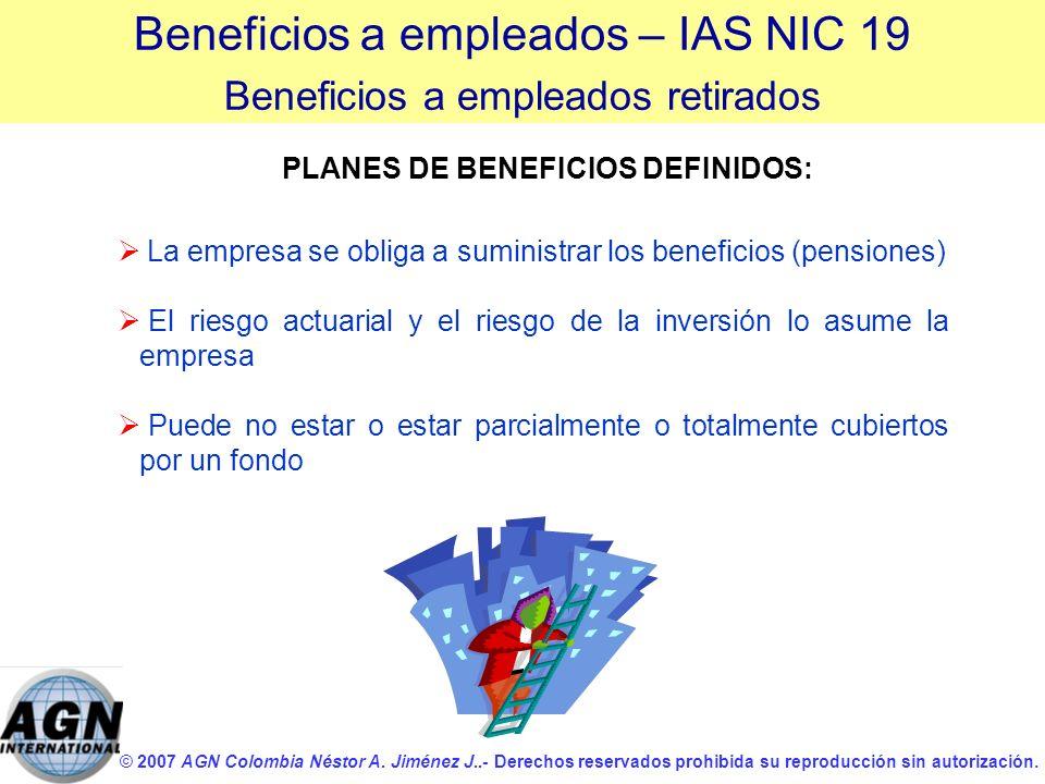 © 2007 AGN Colombia Néstor A. Jiménez J..- Derechos reservados prohibida su reproducción sin autorización. La empresa se obliga a suministrar los bene
