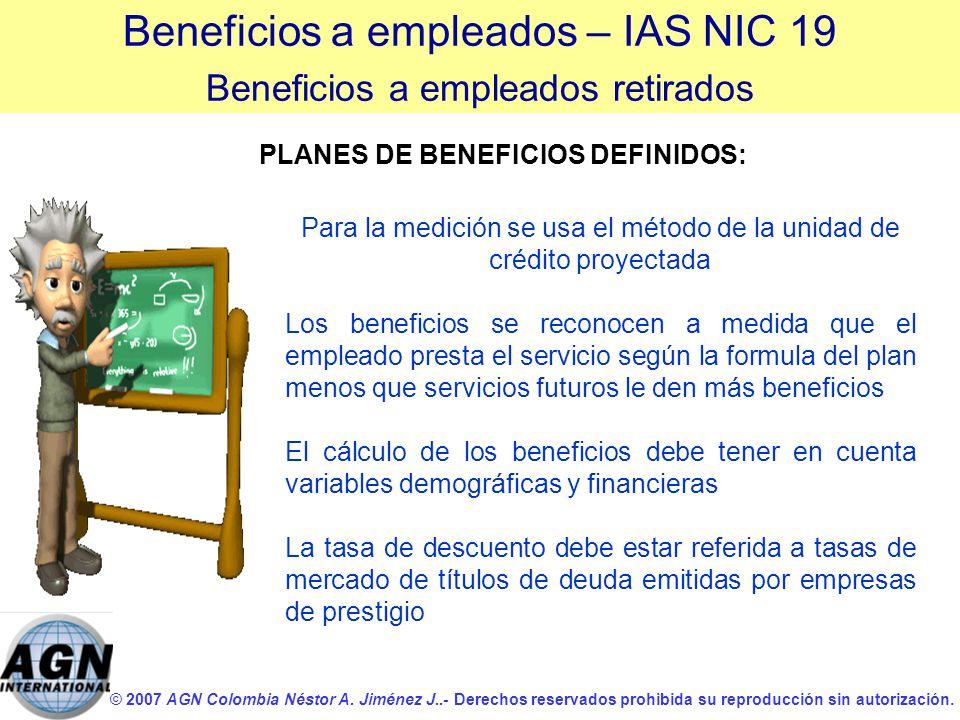 © 2007 AGN Colombia Néstor A. Jiménez J..- Derechos reservados prohibida su reproducción sin autorización. Para la medición se usa el método de la uni
