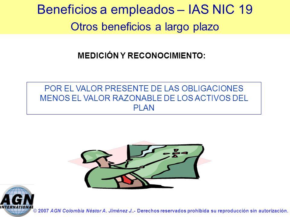 © 2007 AGN Colombia Néstor A. Jiménez J..- Derechos reservados prohibida su reproducción sin autorización. POR EL VALOR PRESENTE DE LAS OBLIGACIONES M