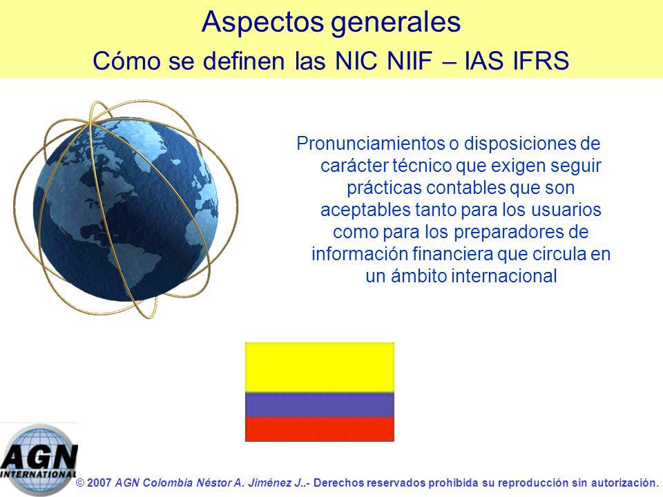 © 2007 AGN Colombia Néstor A. Jiménez J..- Derechos reservados prohibida su reproducción sin autorización. Pronunciamientos o disposiciones de carácte