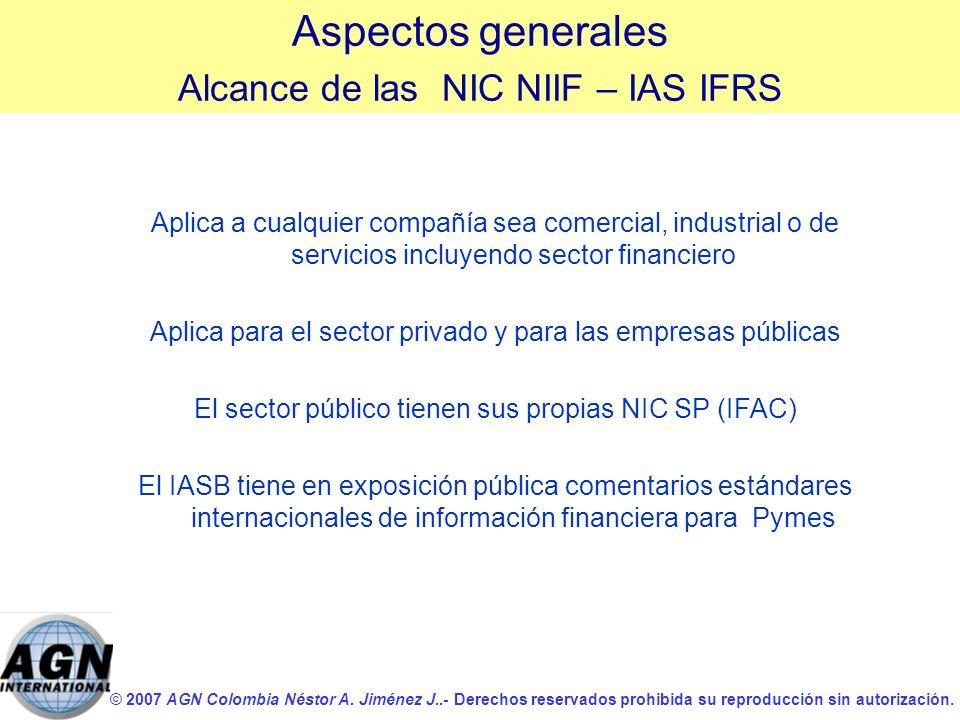 © 2007 AGN Colombia Néstor A. Jiménez J..- Derechos reservados prohibida su reproducción sin autorización. Aplica a cualquier compañía sea comercial,