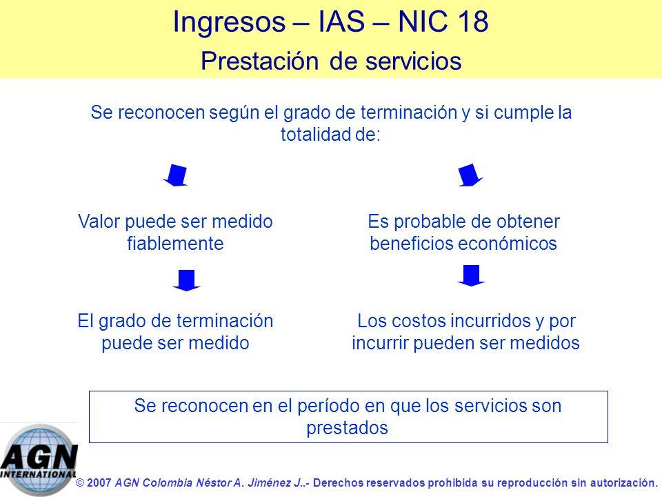 © 2007 AGN Colombia Néstor A. Jiménez J..- Derechos reservados prohibida su reproducción sin autorización. Los costos incurridos y por incurrir pueden