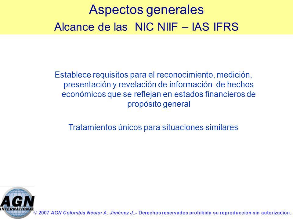 © 2007 AGN Colombia Néstor A. Jiménez J..- Derechos reservados prohibida su reproducción sin autorización. Establece requisitos para el reconocimiento