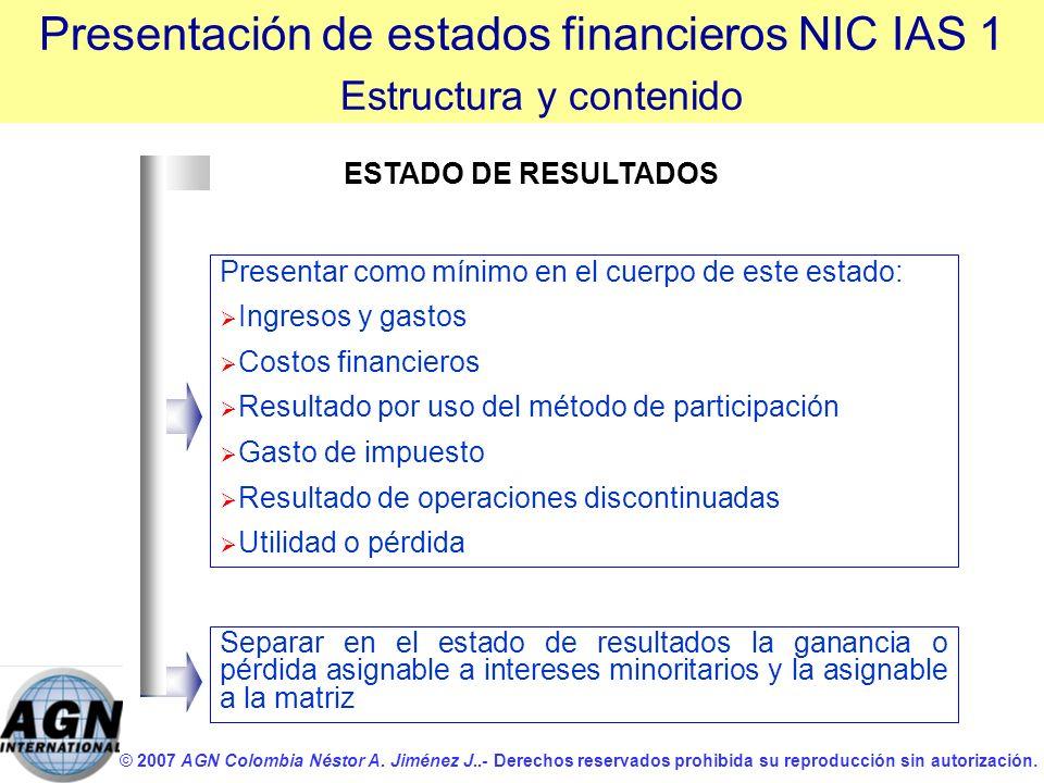 © 2007 AGN Colombia Néstor A. Jiménez J..- Derechos reservados prohibida su reproducción sin autorización. Presentar como mínimo en el cuerpo de este