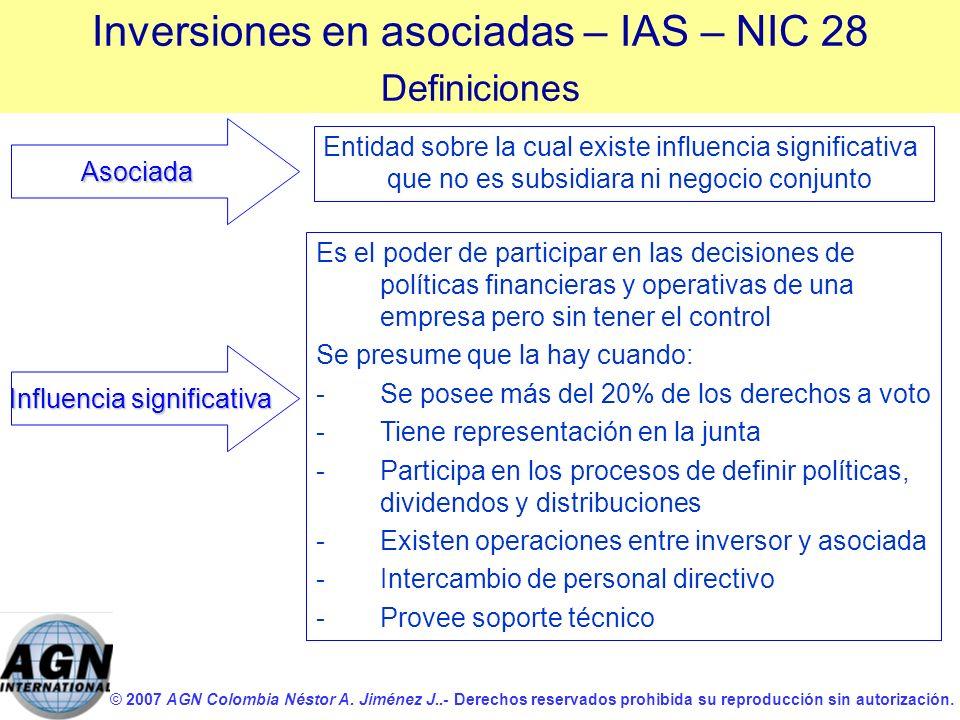 © 2007 AGN Colombia Néstor A. Jiménez J..- Derechos reservados prohibida su reproducción sin autorización. Entidad sobre la cual existe influencia sig