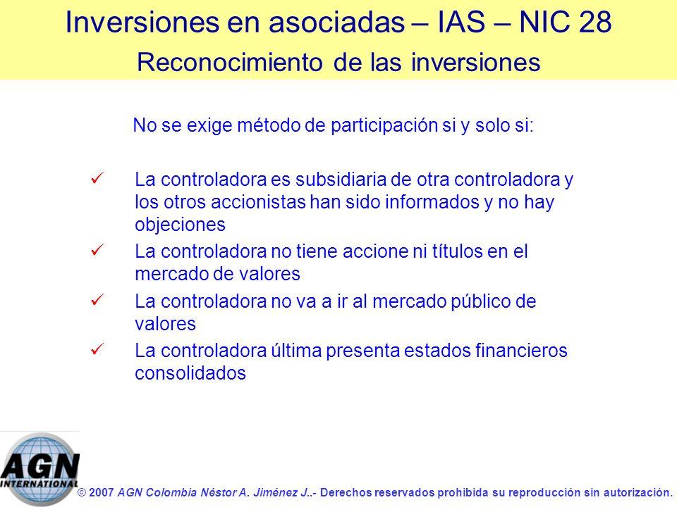 © 2007 AGN Colombia Néstor A. Jiménez J..- Derechos reservados prohibida su reproducción sin autorización. No se exige método de participación si y so