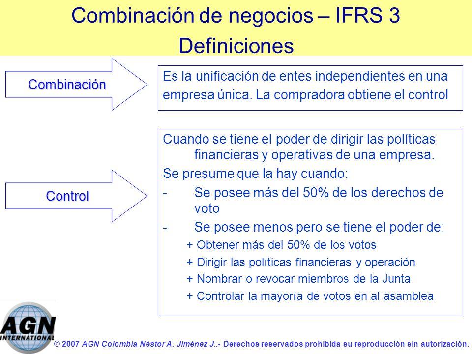 © 2007 AGN Colombia Néstor A. Jiménez J..- Derechos reservados prohibida su reproducción sin autorización. Es la unificación de entes independientes e