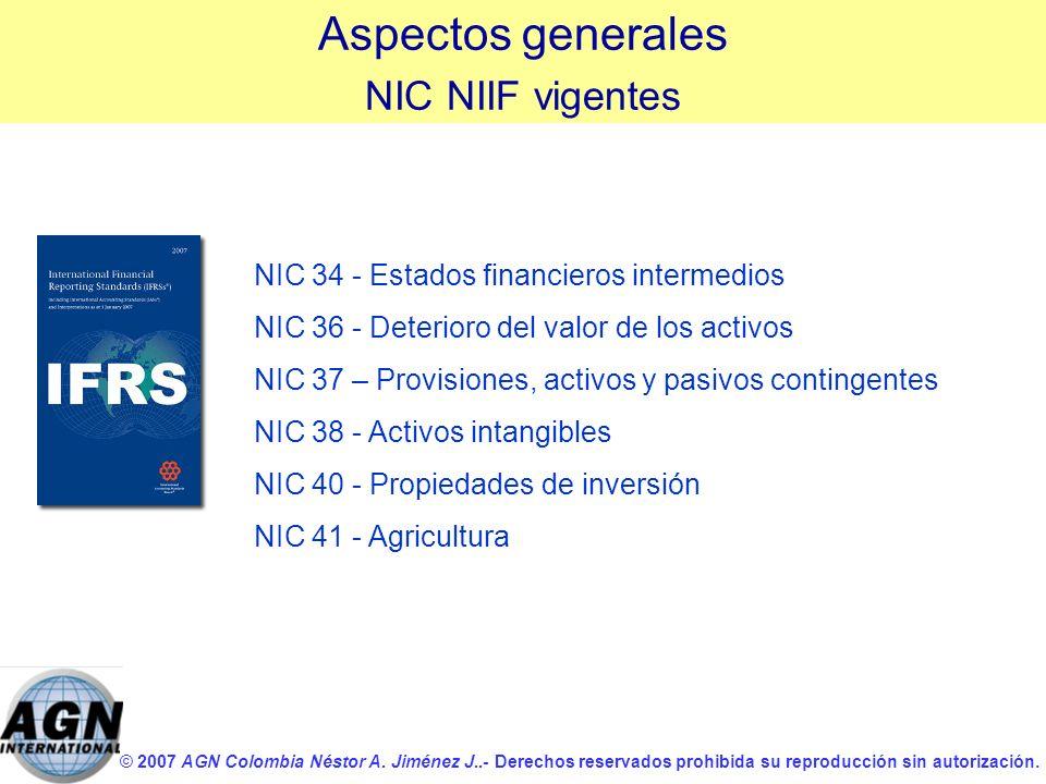 © 2007 AGN Colombia Néstor A. Jiménez J..- Derechos reservados prohibida su reproducción sin autorización. NIC 34 - Estados financieros intermedios NI