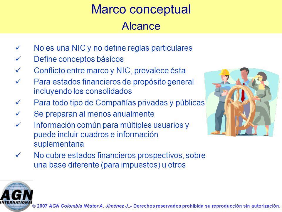 © 2007 AGN Colombia Néstor A. Jiménez J..- Derechos reservados prohibida su reproducción sin autorización. ü üNo es una NIC y no define reglas particu