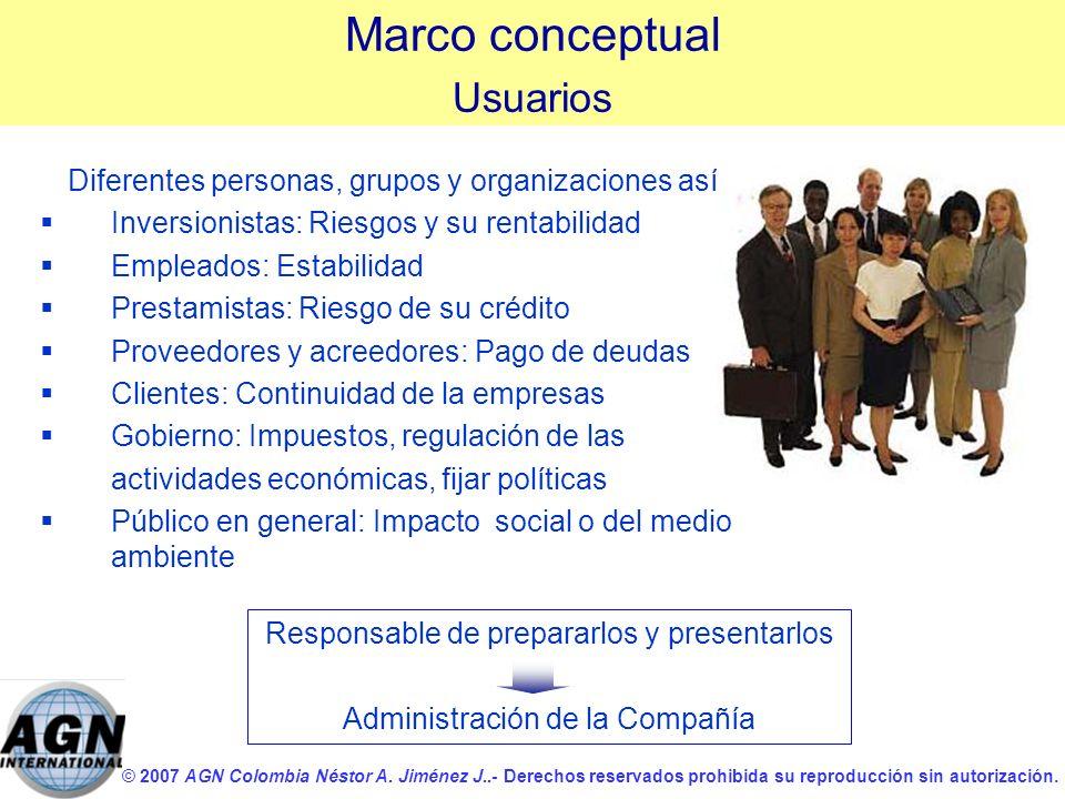 © 2007 AGN Colombia Néstor A. Jiménez J..- Derechos reservados prohibida su reproducción sin autorización. Diferentes personas, grupos y organizacione