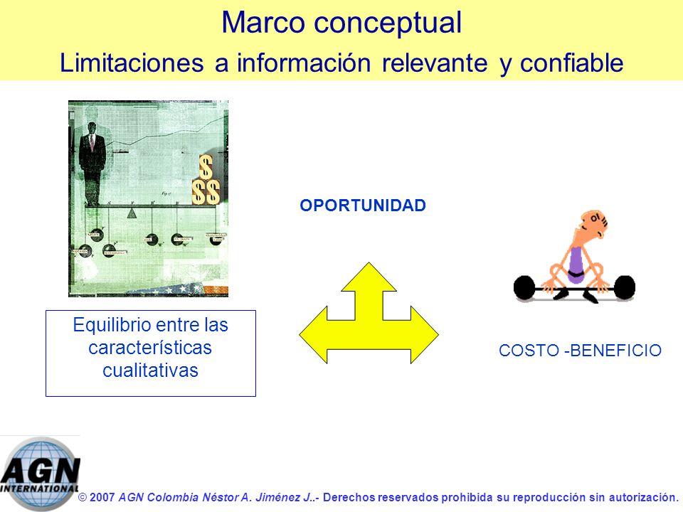 © 2007 AGN Colombia Néstor A. Jiménez J..- Derechos reservados prohibida su reproducción sin autorización. Equilibrio entre las características cualit