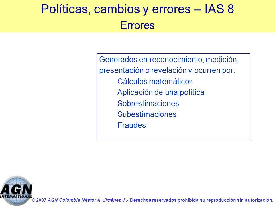 © 2007 AGN Colombia Néstor A. Jiménez J..- Derechos reservados prohibida su reproducción sin autorización. Generados en reconocimiento, medición, pres