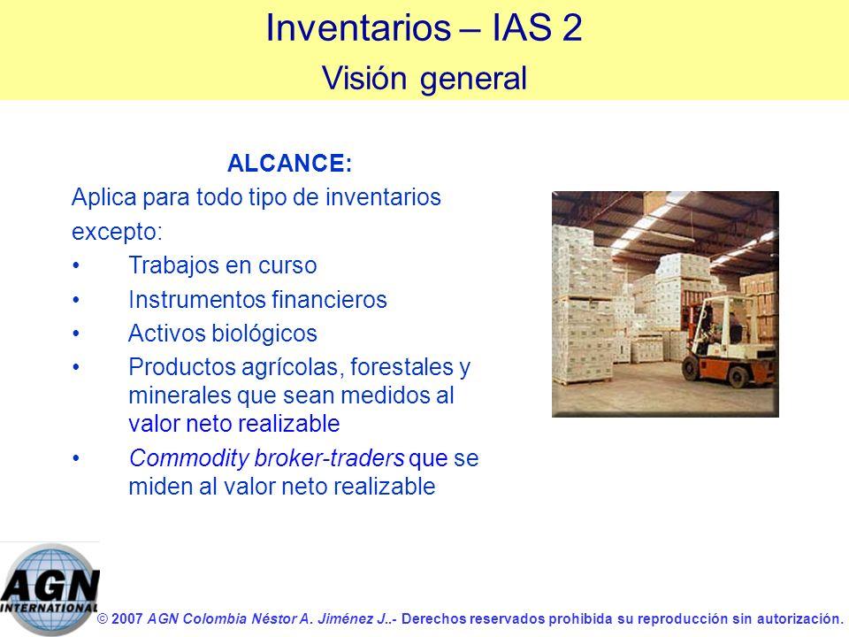© 2007 AGN Colombia Néstor A. Jiménez J..- Derechos reservados prohibida su reproducción sin autorización. ALCANCE: Aplica para todo tipo de inventari