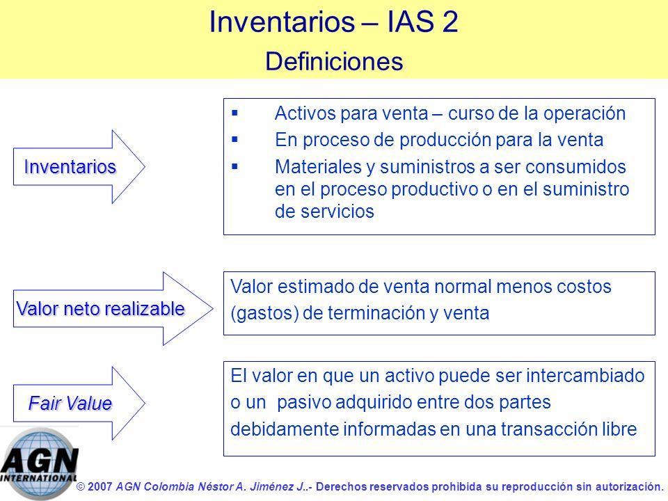 © 2007 AGN Colombia Néstor A. Jiménez J..- Derechos reservados prohibida su reproducción sin autorización. Activos para venta – curso de la operación