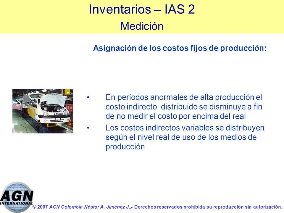 © 2007 AGN Colombia Néstor A. Jiménez J..- Derechos reservados prohibida su reproducción sin autorización. En períodos anormales de alta producción el