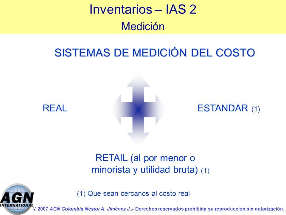 © 2007 AGN Colombia Néstor A. Jiménez J..- Derechos reservados prohibida su reproducción sin autorización. SISTEMAS DE MEDICIÓN DEL COSTO REAL (1) Que
