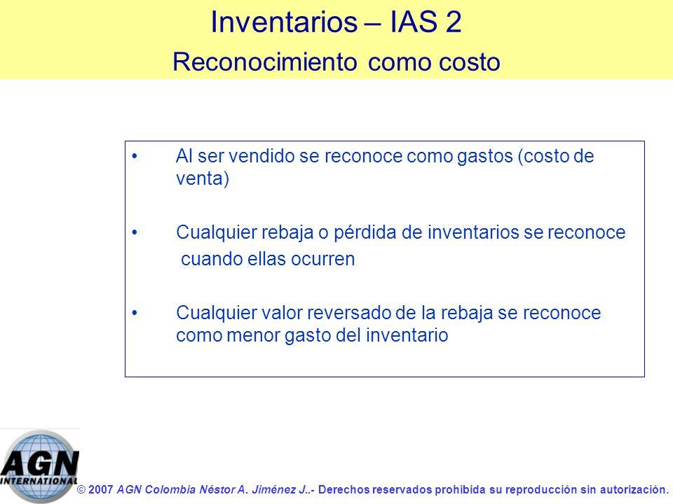 © 2007 AGN Colombia Néstor A. Jiménez J..- Derechos reservados prohibida su reproducción sin autorización. Al ser vendido se reconoce como gastos (cos