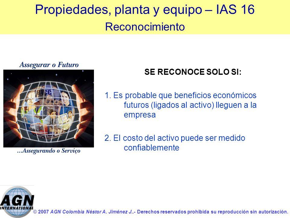 © 2007 AGN Colombia Néstor A. Jiménez J..- Derechos reservados prohibida su reproducción sin autorización. SE RECONOCE SOLO SI: 1. Es probable que ben
