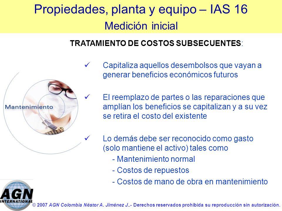 © 2007 AGN Colombia Néstor A. Jiménez J..- Derechos reservados prohibida su reproducción sin autorización. Capitaliza aquellos desembolsos que vayan a