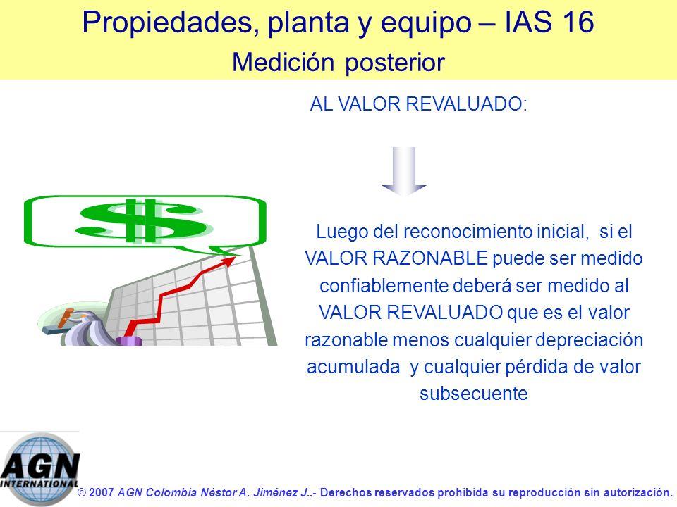 © 2007 AGN Colombia Néstor A. Jiménez J..- Derechos reservados prohibida su reproducción sin autorización. Luego del reconocimiento inicial, si el VAL
