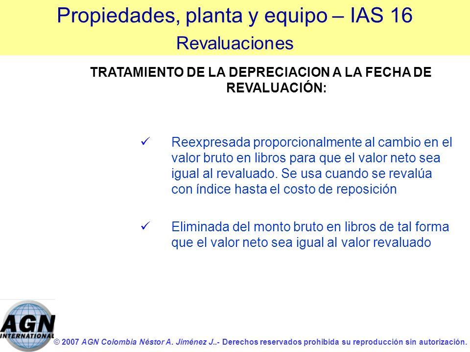 © 2007 AGN Colombia Néstor A. Jiménez J..- Derechos reservados prohibida su reproducción sin autorización. Reexpresada proporcionalmente al cambio en