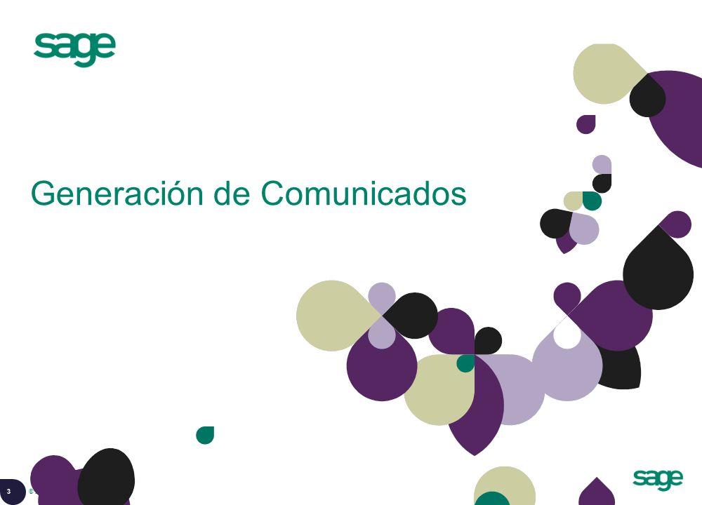 3 © 2008 Sage Generación de Comunicados