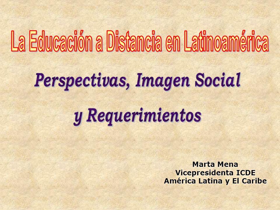 Marta Mena Vicepresidenta ICDE América Latina y El Caribe