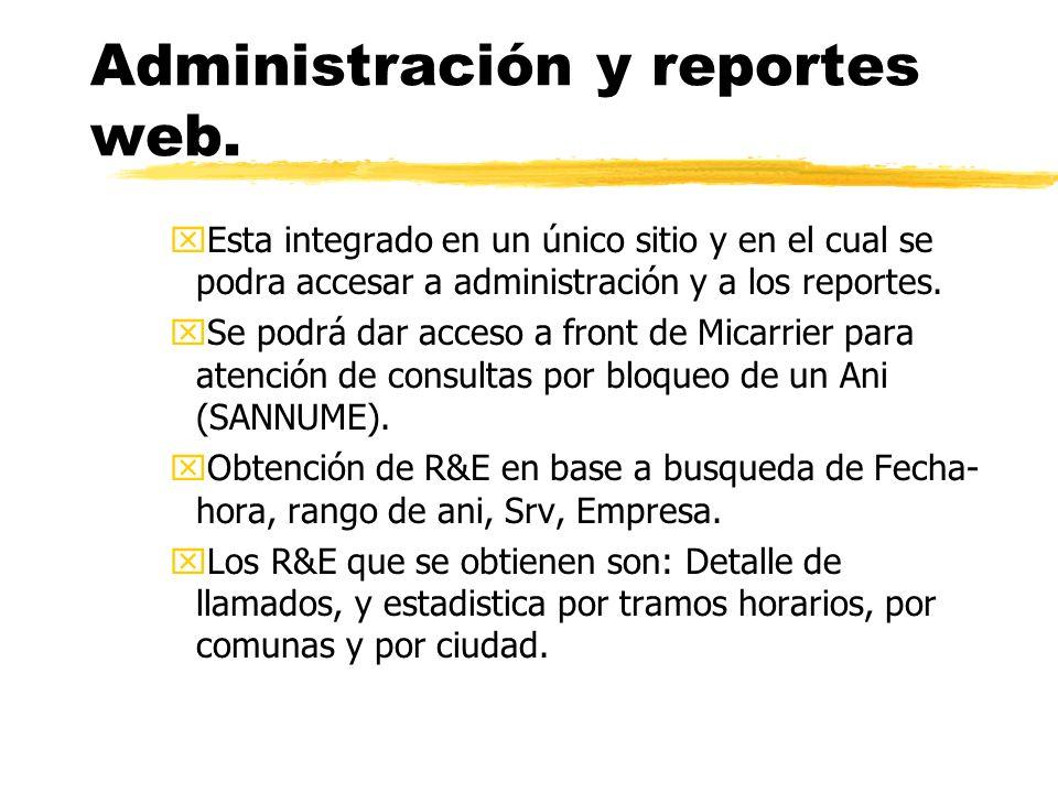 xEsta integrado en un único sitio y en el cual se podra accesar a administración y a los reportes.