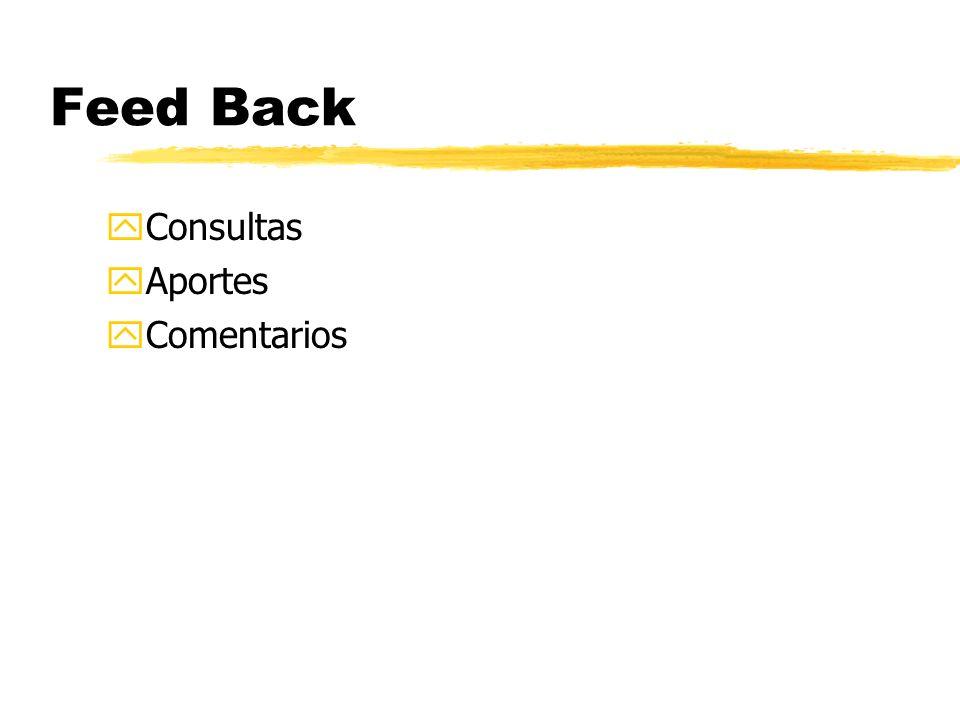 Feed Back yConsultas yAportes yComentarios