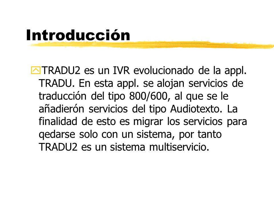 yTRADU2 es un IVR evolucionado de la appl. TRADU.