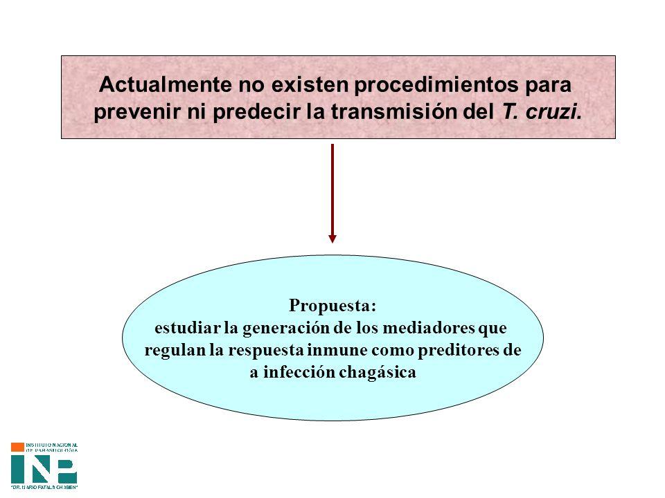 Actualmente no existen procedimientos para prevenir ni predecir la transmisión del T.