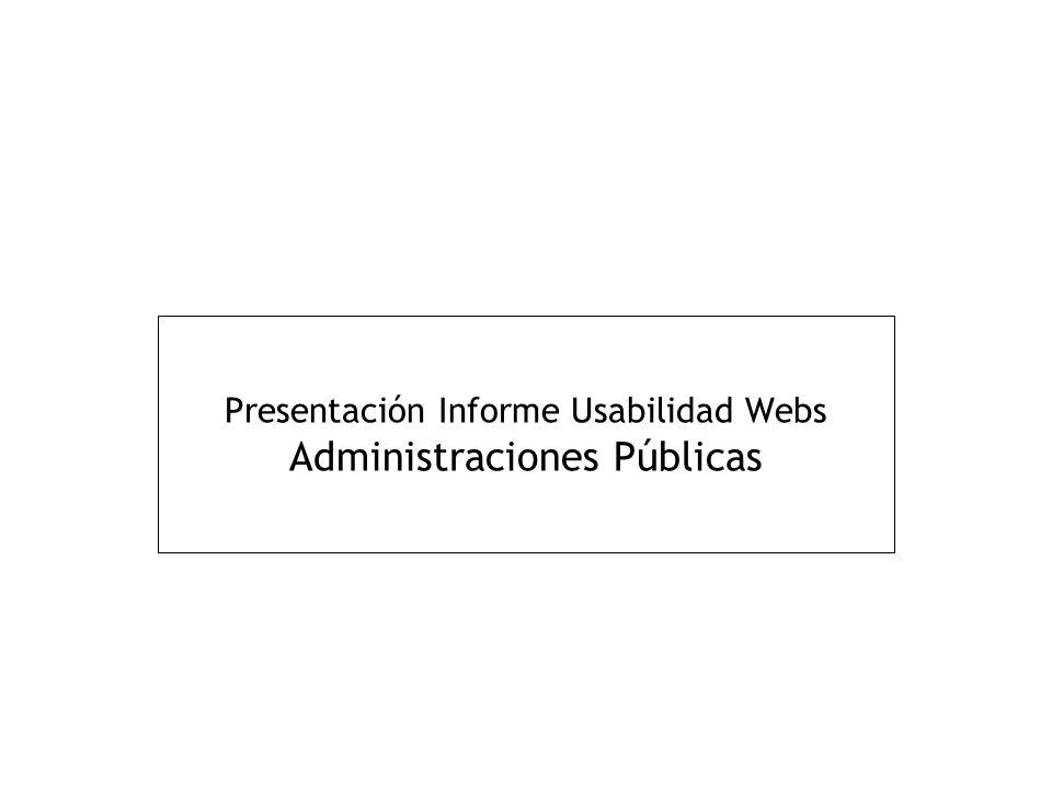 Presentación Informe Usabilidad Webs Administraciones Públicas