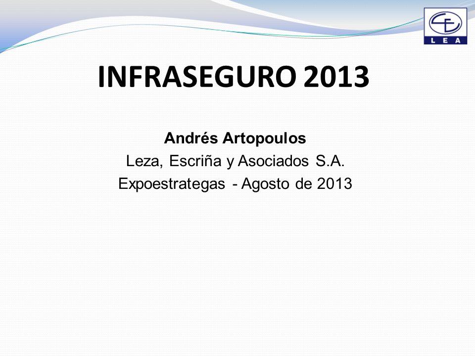 INFRASEGURO 2013 Andrés Artopoulos Leza, Escriña y Asociados S.A. Expoestrategas - Agosto de 2013